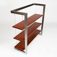 suspended bookshelf mahogany 48