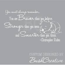 winnie the pooh wall decal christopher robin nursery quote you zoom