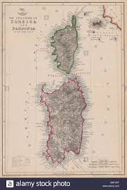 Corsica Map The Islands Of Corsica U0026 Sardinia U0027 Elba John Dower Dispatch