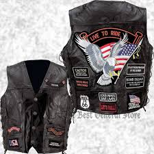 motorcycle style leather jacket mens black leather motorcycle vest waistcoat with 14 biker style