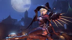 live halloween wallpaper mercy halloween wallpaper engine live bg 1440p youtube
