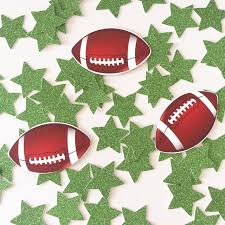 rugby american football birthday decorations table