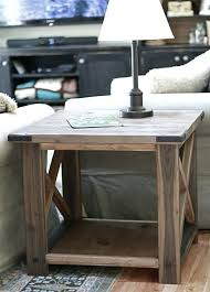 rustic table ls for living room side and end tables rustic x end table side table living room modern