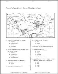 china free printable map worksheet for grades 4 6 ccss for