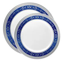 silver wedding plates royal white with blue silver plates combo wedding plates combo