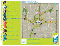 Map Of Downtown Indianapolis Greenways Graphics Map 02 Png