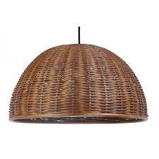 Dome Pendant Light Dome Pendant Lamp Rustic Brown Wicker