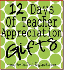 mud pie studio 12 days of teacher appreciation gifts