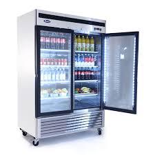 mcf8707 bottom mount 2 two glass door refrigerator u2013 atosa