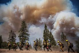 Wildfire Yosemite 2013 by Pictures Battling The Yosemite Rim Fire