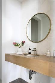 round brass bath vanity mirror design ideas