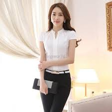 s blouse office ol work wear formal cotton shirt v