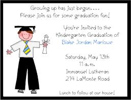 kindergarten graduation invitations stick figure boy preschoolkindergarten graduation invitations