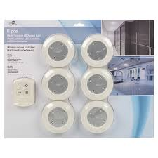 edco 6 x remote control wall ceiling led push lights kitchen