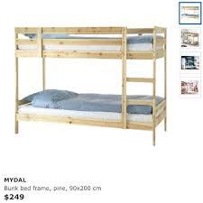 Mydal Bunk Bed Frame Ikea Bunk Bed Frame Platform Bed Frame Ikea Metal Bunk Bed