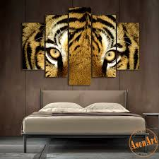 home interior tiger picture 5 canvas set fierce tiger painting modern canvas prints