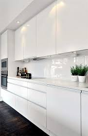 Modern White Kitchen Design Plan Kitchen Decor In White Modern White Kitchen Interior