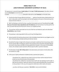 8 land purchase agreement sample free samples examples format