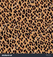 seamless leopard pattern natural fur leopard stock vector