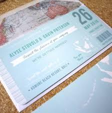 Boarding Pass Wedding Invitation Card Blue Boarding Pass Wedding Invitation By Rodo Creative