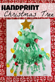 handprint and paw print christmas tree christmas tree craft