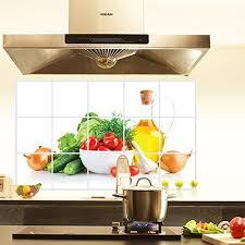 kitchen decals for backsplash bibitime green vegetables kitchen proof wall stickers cherry