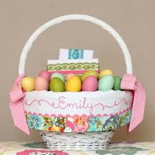 easter basket liners personalized personalized easter basket liner custom easter basket liners