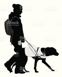 guide dog harness guide dog vector silhouette stock vector art 165624383 istock