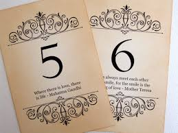 wedding quotes signs quote wedding table numbers vintage quotes table numbers