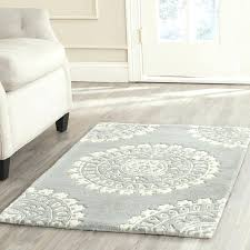 Tufted Area Rug Blue Wool Area Rug Tapinfluence Co