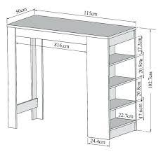 meuble table bar cuisine hauteur table bar cuisine charmant haute meuble standard comptoir