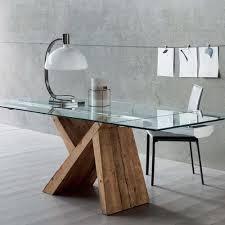 tavoli design cristallo akeo a tavolo di design in legno allungabile con piano in