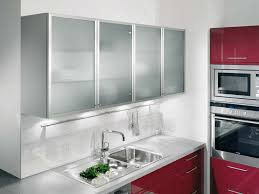 Picture Of Kitchen Wall Units With Aluminium Framed Satinised - White kitchen wall cabinets
