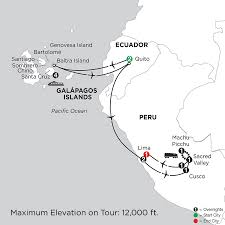 Galapagos Map Cruising The Galapagos On Board The La Pinta With Peru Monograms