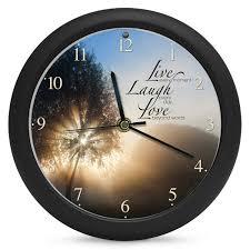 amazon com mark feldstein live laugh love inspirational clock 8