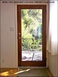 All Glass Doors Exterior Mahogany 1 Lite Dual Glass Exterior Door Eto Doors