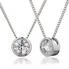 white gold diamonds necklace images Diamond rubover pendant necklace 0 40ct 18k white gold g si1 jpg
