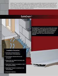 safetrack waterproofing system basement drainage safebasements