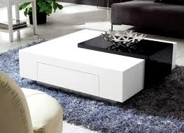 coffee table futuristic white lacquer coffee table crate and