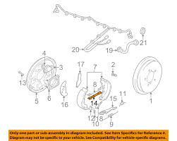 suzuki oem 99 04 vitara brake rear brake shoes adjuster left