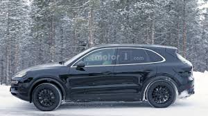2018 porsche cayenne early prototype spied up close motor1 com