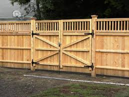 Wave Wooden Fence Gate Design For Modern House Yard Fence With - Backyard gate designs