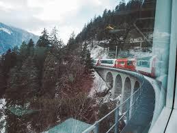 taking glacier express through swiss mountains steemit