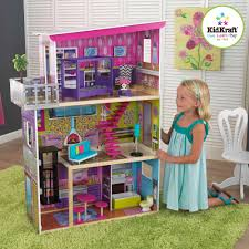Doll House Furniture Kidkraft Contemporary Deluxe Wooden Townhouse With 24 Pieces Of