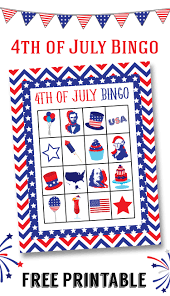 Free Printable Halloween Bingo Cards With Pictures Free 4th Of July Bingo Printable Lil U0027 Luna