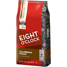 eight o u0027clock 100 colombian peaks whole bean coffee 11 oz bag