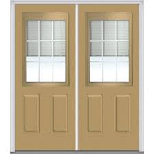 Home Depot 2 Panel Interior Doors by Mmi Door 64 In X 80 In Internal Blinds Left Hand 1 2 Lite 2
