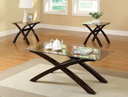 Glass Modern Coffee Table Sets Glass Top End Tables Coffee With Wooden Table Stand Also Soft