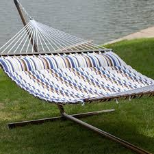 12 Foot Hammock Stand Island Bay 13 Ft Nautical Quilted Hammock With Steel Stand