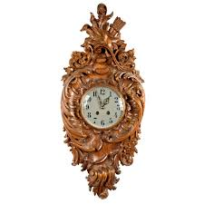 french carved walnut rocaille wall clock wall clocks decorative
